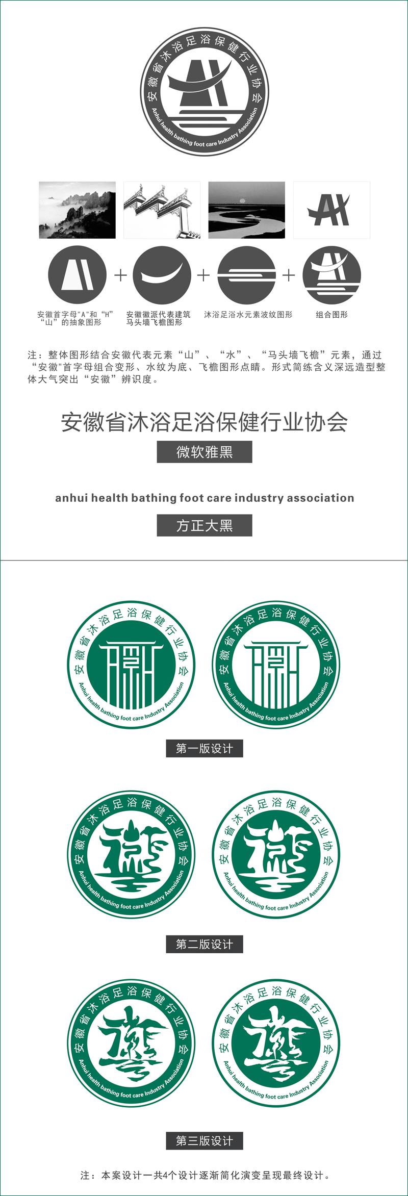 安徽省沐浴足疗保健行业协会标识设计(图2)